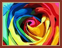 """Раскраска по номерам на холсте """"Радужная роза"""", 40х50см, MG213, фото 1"""