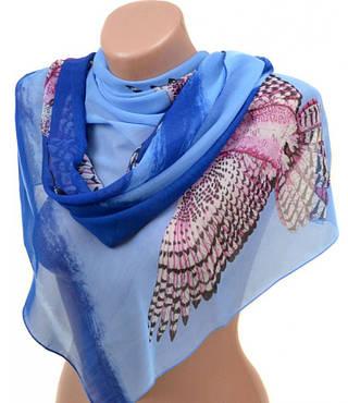 Элегантный женский шарф 50 на 160 из легкого шифона 10112 T3