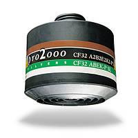 Фильтрующая коробка к противогазу марки А2В2Е2К2Р3