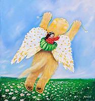 «Ромашковые крылья» картина маслом