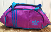Спортивная сумка для фитнеса Adidas, Адидас розовая с голубым ( код: IBS027PL )