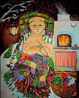 «Летняя зимушка» картина маслом