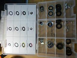 Набор авто прокладок  на порт  автокондиционеров 12 видов (36 штук)  RK1053    ACL 164 UN