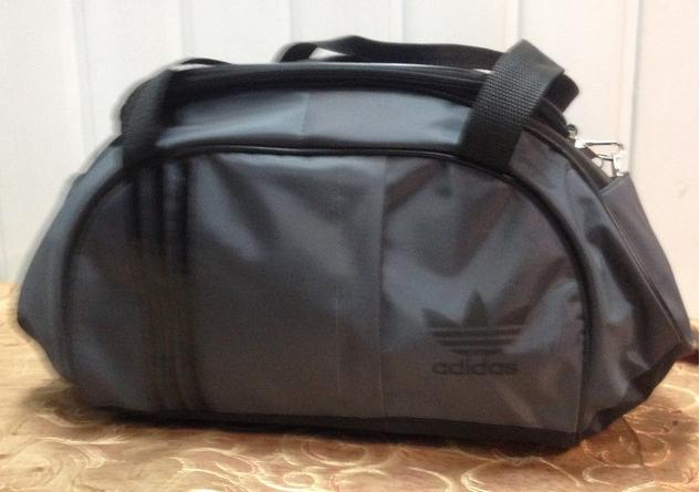 Спортивная сумка для фитнеса Adidas, Адидас серая с черным ( код: IBS027SB )