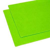 Фетр, толщина 1-2 мм, 45*50 см, цвет зеленый салатовый темный
