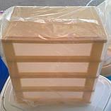 """Комод-органайзер """"Mini Medium"""", пластиковый на 4 секции бежевый, фото 4"""