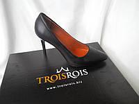 Стильные женские туфли - лодочка на шпильке из натуральной турецкой кожи Натуральная кожа, Черный