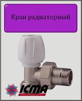 """Ручной вентиль простой регулировки 1/2"""" ICMA угловой"""