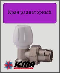 """Ручний вентиль простий регулювання 1/2"""" ICMA кутовий"""