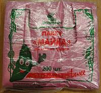 Пакет майка комсерв 24*43 горох 200шт/уп