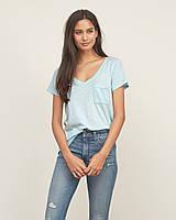 Голубая футболка Abercrombie&Fitch