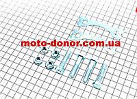 Болт крепления звезды задней к демпферу к-кт 4шт + шайбы CB на мотоцикл Viper-125J