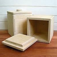 Шкатулка-короб фанера 9,5*9,5*11,5 см,1 шт