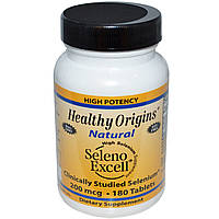 Органический селен Seleno Excell, Healthy Origins, 200 мкг, 180 таблеток