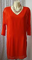 Платье женское яркое модное элегантное мини бренд Vero Moda р.48-50 6147