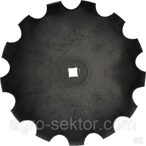 "Диск борони зубчатий ромашка 26"" 660*6мм квадрат 40мм Gregoire Besson 851001198 Kverneland RF28480"