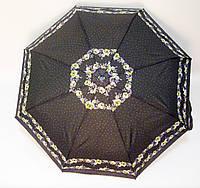 Зонт п/авт черный/фиолетовый
