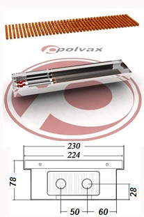Внутрипольные  конвекторы  POLVAX KE 78