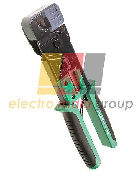 Кримпер Pro'sKit для витої пари СР-376D, 8P8C (RJ-45), 6P2C (RJ-45), різак, стрипер