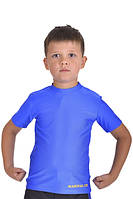 Футболка компрессионная for KIDS MARTIAL FIT blue