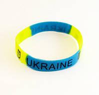 Браслет силиконовый UKRAINE-12 шт.- Ø 6,0 см.