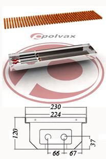 Внутрипольные  конвекторы  POLVAX  KE 120