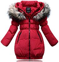 Пальто пуховик зимний на девочку