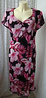 Платье женское легкое летнее в цветах вискоза бренд E.B.Company р.48-50 6123