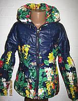 Куртка для девочки весна осень Цветы