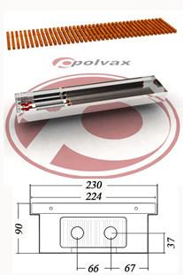 Внутрипольные  конвекторы  POLVAX KE 90