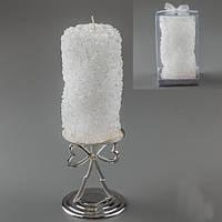 """Пеньковая свеча """"Розы спираль"""" 14 см"""