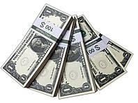 "Деньги сувенирные ""1 Dollars"" (100$) пачка денег"