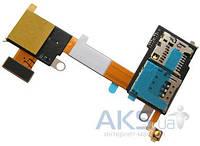 Шлейф для Sony D2303 Xperia M2 / D2305 Xperia M2 / D2306 Xperia M2 с коннектором SIM-карты и карты памяти Original