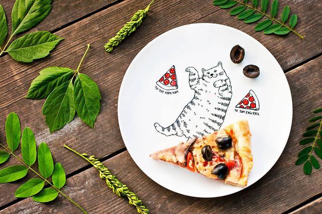 дизайнерская тарелка Пицца