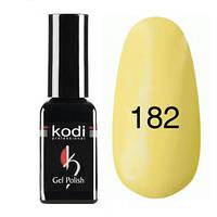 Гель-лак Коdi №182 (светло-желтый, эмаль), 8 мл