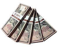 "Деньги сувенирные ""10 Dollars"" (1000$) пачка денег"