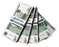 """Деньги сувенирные """"1000 Рублей"""" (100,000₽) пачка денег, фото 1"""