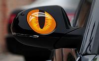 """Наклейка на машину, виниловые наклейки, украшения зеркал авто, наклейка на стекла """"глаза кота"""" 2шт 10*7см"""