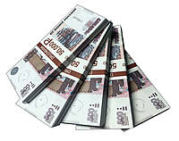 """Деньги сувенирные """"500 Рублей"""" (50,000₽) пачка денег, фото 1"""