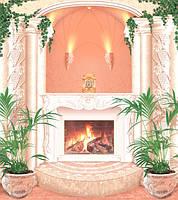 Фотообои в гостиную с камином Классика размер 242 х 207 см