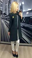 """Пальто """"Chanel"""", серый"""