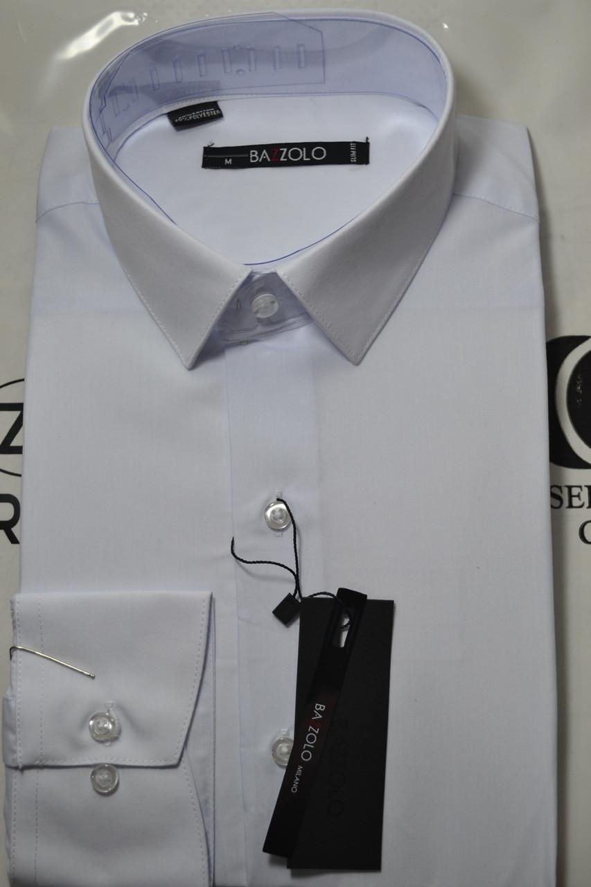 e614b1adc1ad Белая приталенная рубашка BAZZOLO (размеры S.M.L.XL.XXL + под заказ)