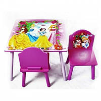 Деревянный столик со стульчиками BT-CWT-0002 Принцессы