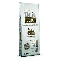 Brit (Брит) Сухой гипоаллергенный корм с олениной для взрослых собак всех пород Brit Care Venison All Breed 12кг