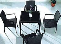 Комплект ротанговой мебели черный