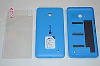 Задняя синяя матовая крышка для Microsoft Lumia 640 + ПЛЕНКА В ПОДАРОК