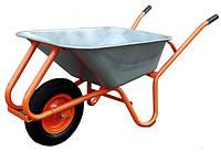 Тачка садовая Triton (оранжевая) 80л 160кг