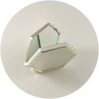 Зеркало карманное шестигранное, пластик., фото 1