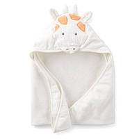 Полотенце с капюшоном Белый Жираф велюр-махра Carters, 76х76см