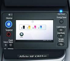 Офисный  сетевой принтер Ricoh SP C831DN. Полноцветная печать формата А3, автоматический дуплекс.